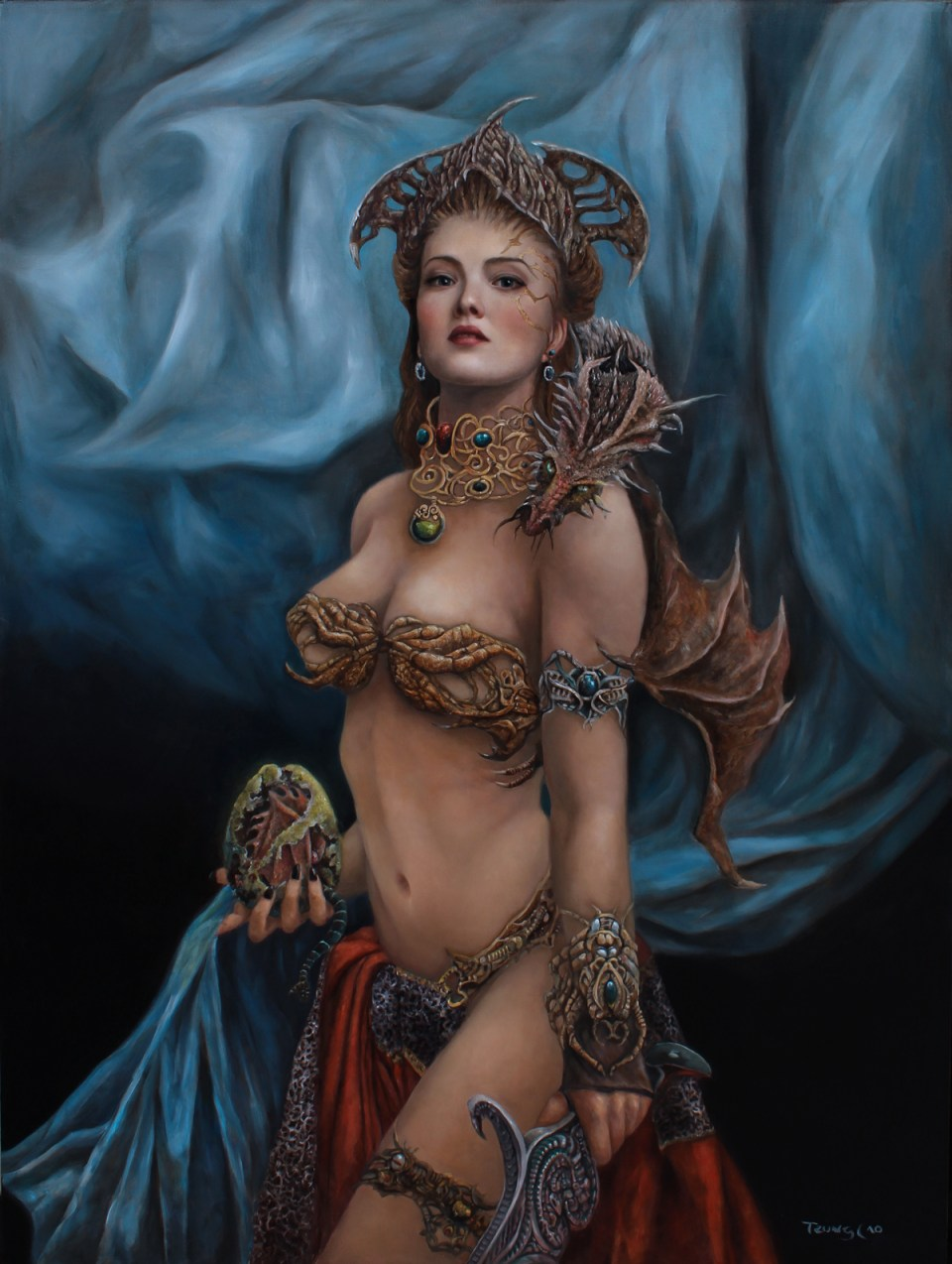 Tamer of Dragons - 30 x 40 in, oil on wood panel