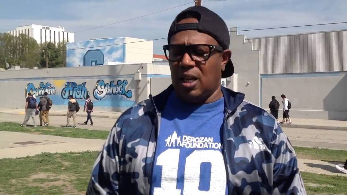 MASTER P AT COMPTON HIGH SCHOOL