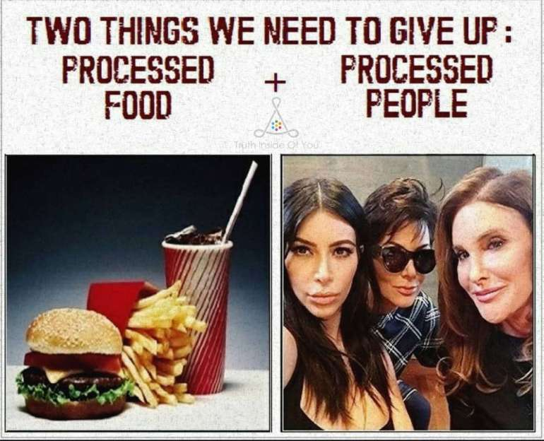 Two things we need to give up:Processed Food + Processed People