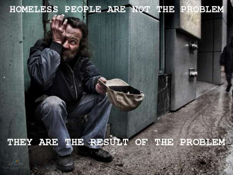 Homeless people.