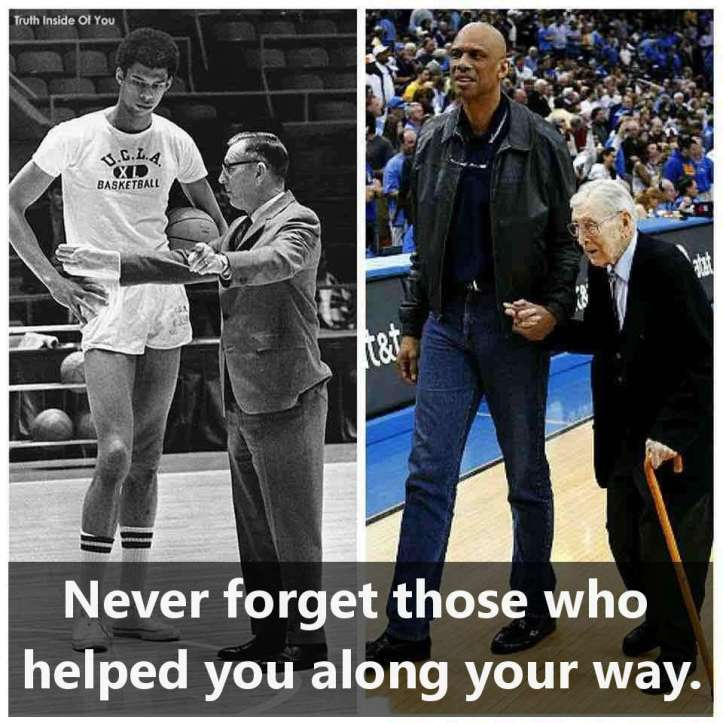 Never forget those who helped you along your way.