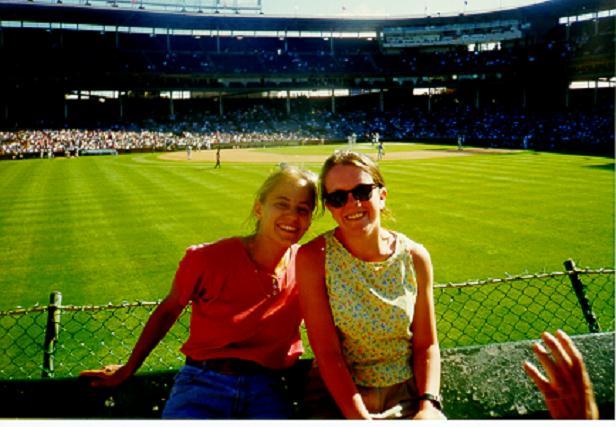 Cubs Game - 1997 - Melissa and Ellen