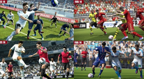 PES vs FIFA Graphics 2014