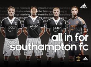 Southampton away kits 2014