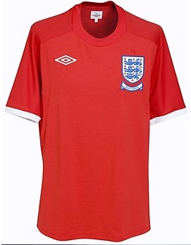 England 2010 World Cup Red away Kits