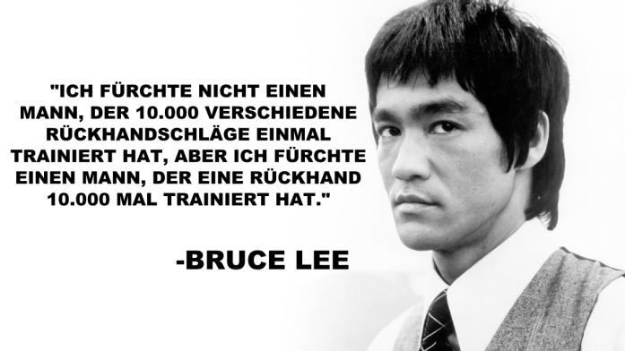 Bruce Lee über Tischtennis