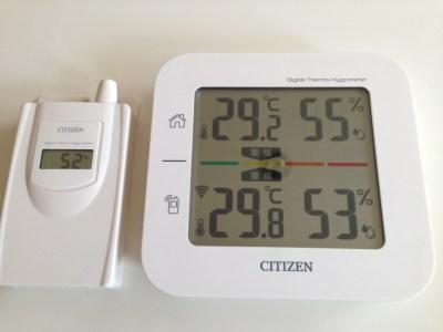 室内・屋外の気温・湿度を同時計測! シチズン コードレス温湿度計 THD501 が かなり良いぞ!!