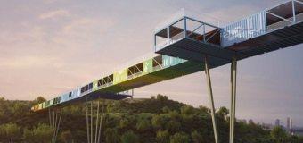 Un puente ecológico hecho con contenedores marítimos