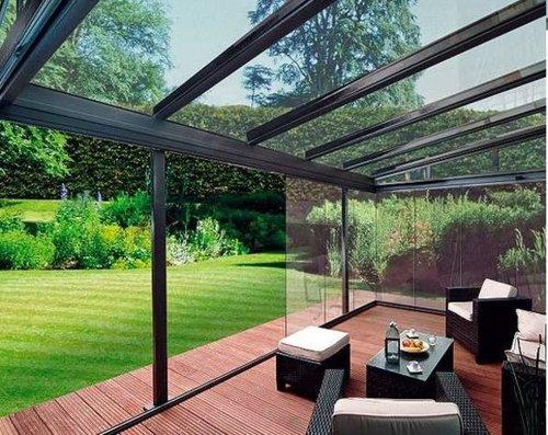 Los Cerramientos de terrazas modernos, las cortinas de cristal