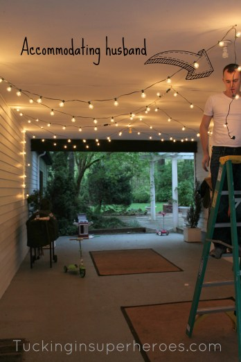 Patio lights in carport