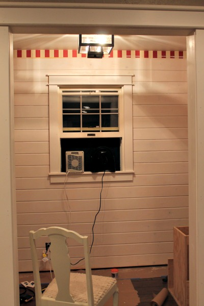 sawdust diaries mudroom painted 2