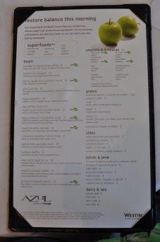 Breakfast Menu at AZUL