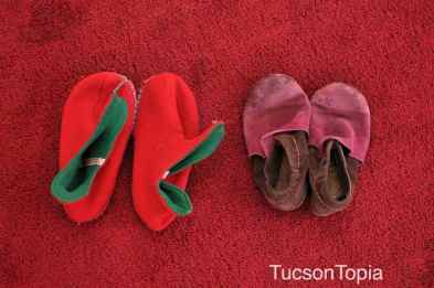 many young children wear moccasins at Tucson Waldorf School