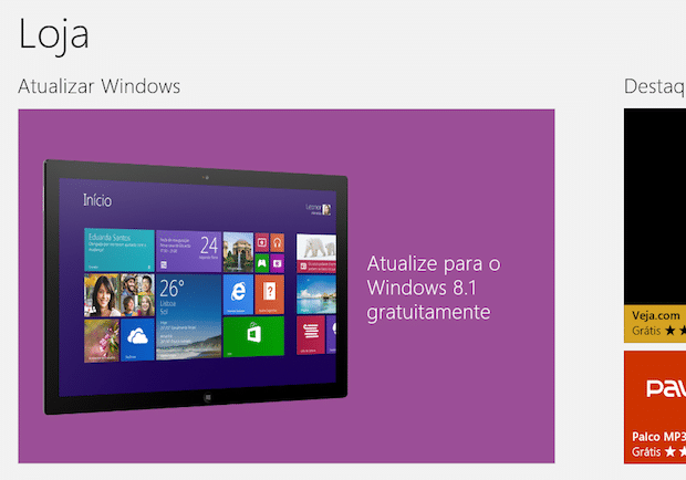 Como atualizar o Windows 8 para Windows 8.1
