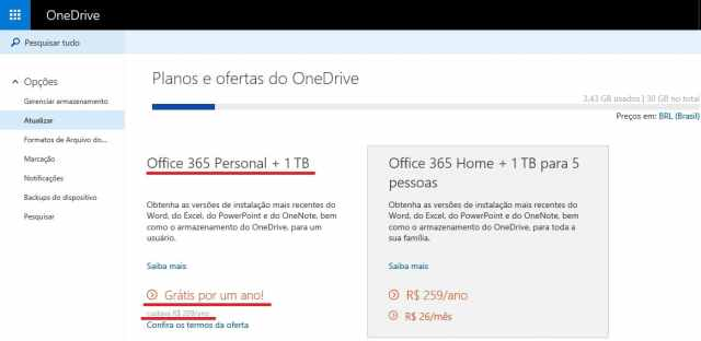 office 365 promocao