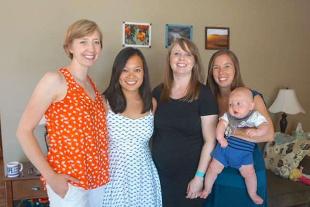 Heidi, Alicia, Megan, Michelle, & Baby Braiden