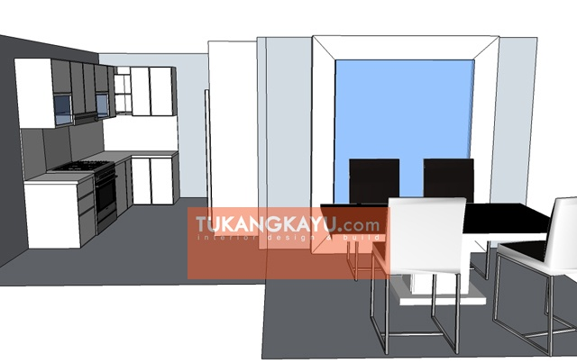 Desain Vira - Casa blanka - dining room + kitchen