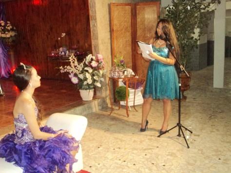 Foto Cerimonial de 15 anos Leticia Sousa, Recanto da Amizade Sepetiba, homenagem da mãe