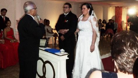 Momento da cerimônia na casa de festas Lescamar  com Túlio de Pinho.