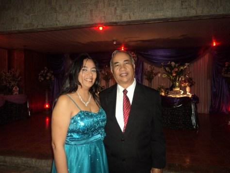 foto Túlio com Maria Barros, mãe da debutante Leticia, 2.8.14, Recanto da Amizade,Sepetiba