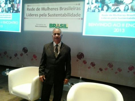Foto Túlio no evento do Expaço Tom Jobim