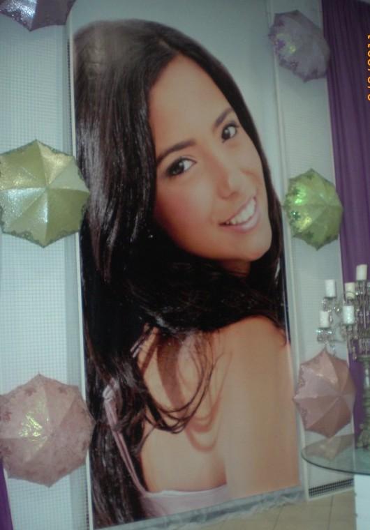 Banner de Dayana, filha do cantor Latino.