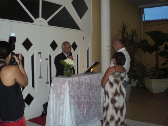 Renovação de Bodas de 40 anos - Esmeralda na Casa de festas Lord Kingston em Piedade-RJ