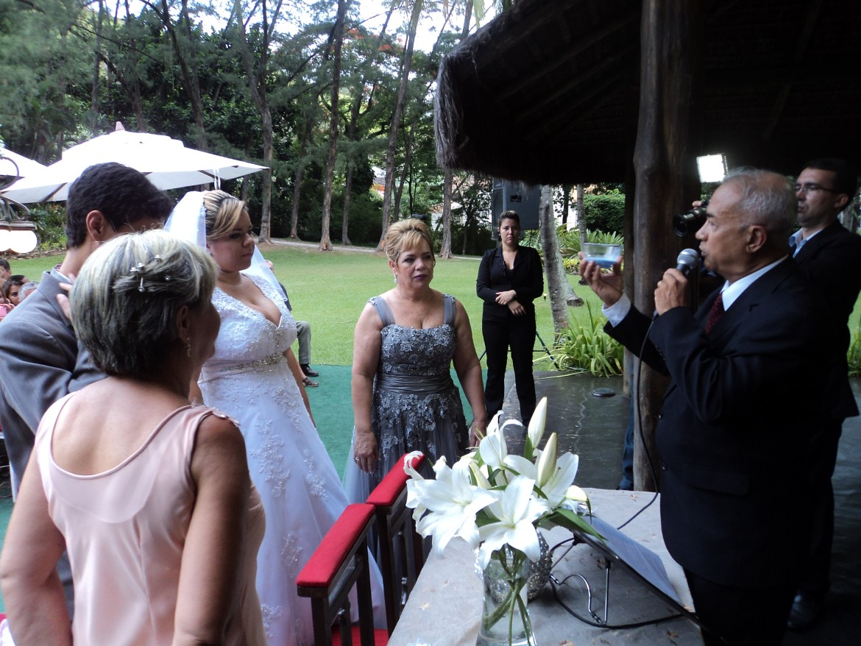 Foto cerimônia areias casamento Marcelo e Bernadete 12.1.14 Garden Party