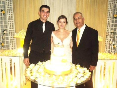 foto Túlio com noivos Ana Carolina e Renato,8.11.14