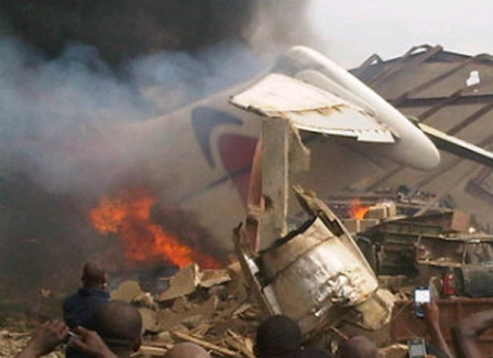 Breaking News: Airplane Crashes In Lagos With Over 152 Passengers