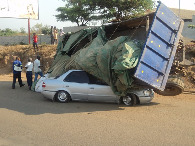 Amazing: Teriffic Accident In Chingola, Victims Escape With Minor Injuries