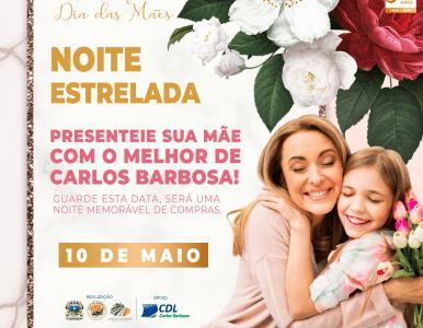 NOITE ESTRELADA ACONTECERÁ NESTA SEXTA-FEIRA, DIA 10.
