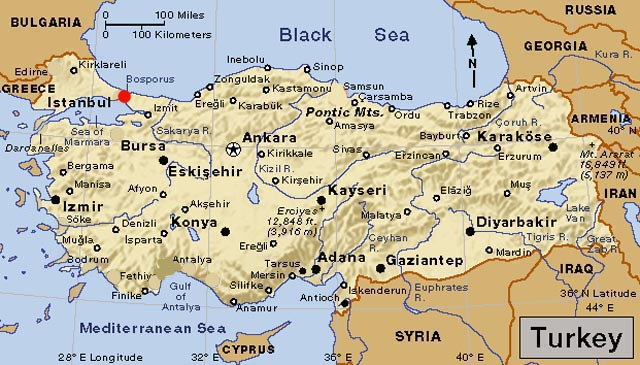 map turkey region