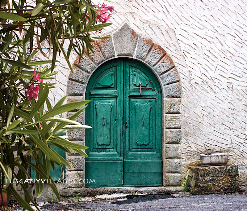 Tuscan Green doors
