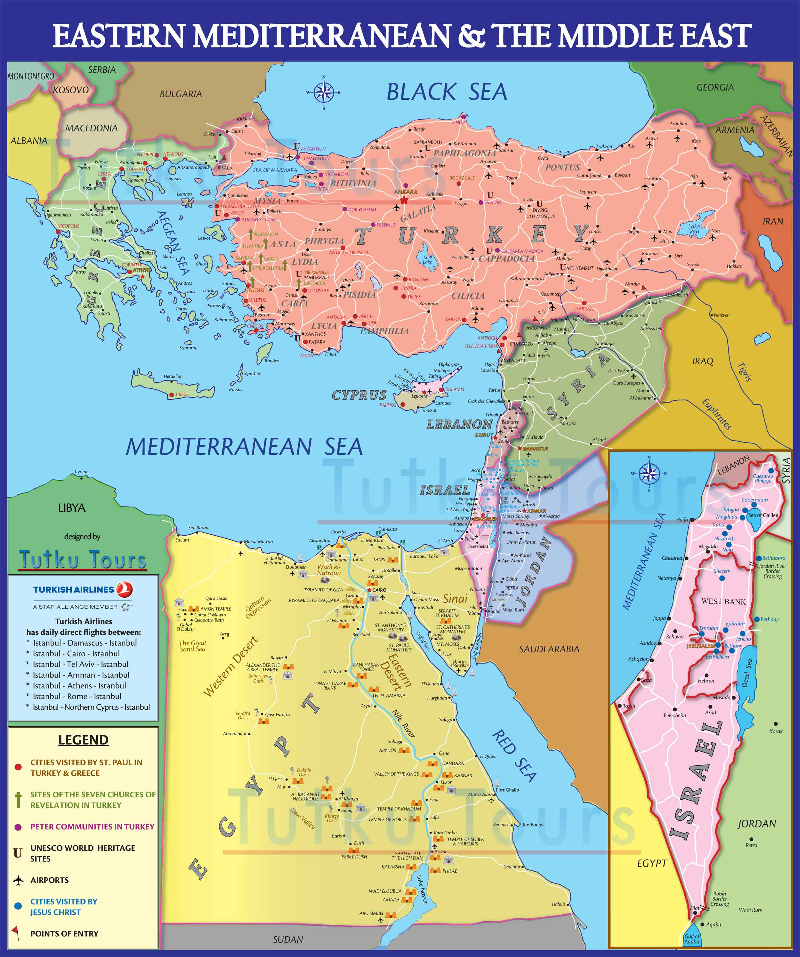 map of the mediterranean and