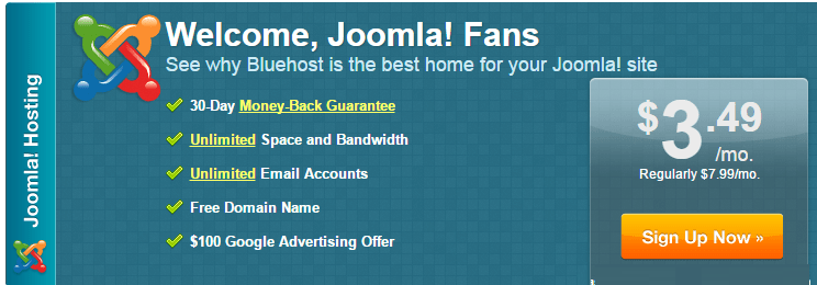bluehost joomla hosting offer