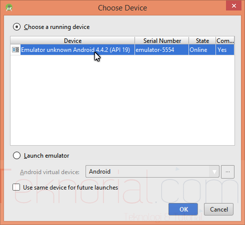 choose-Device-android-studio