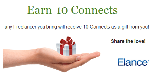 Get 10 connects for free in elance before signup