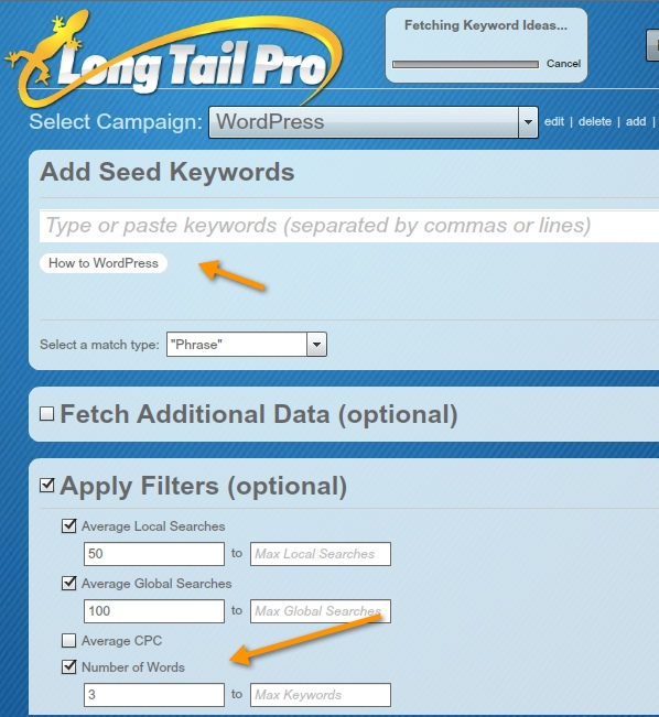 Long tail keyword research tool