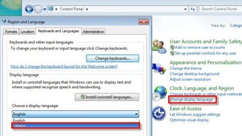 imposta lingua italiano in Windows 7