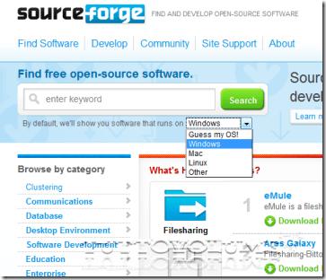 SourceForge sistem