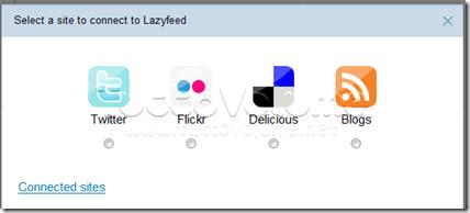 lazyfeed connetti sito