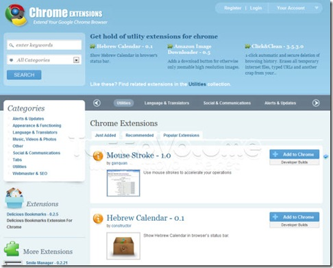 Chrome Extensions Directory