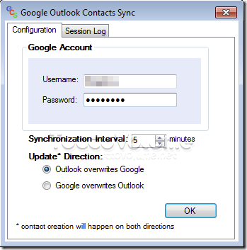 Google Outlook Contacts Sync