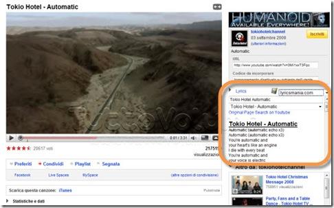 Lyrics YouTube