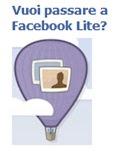 Passa a Facebook Lite