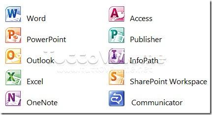 Applicazioni Office Professiona Plus 2010
