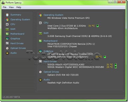 Speccy Informazioni Hardware