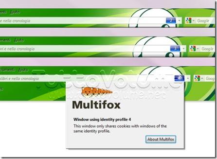 Finestre Profili Identità Multiplefox