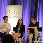Sam Witwer, Meaghan Rath, and Sam Huntington at the Being Human Panel